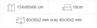 meble ogrodowe maladeta 154x80x66