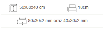 meble ogrodowe maladeta 50x80x40