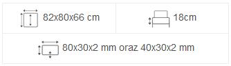 meble tarasowe maladeta 82x80x66