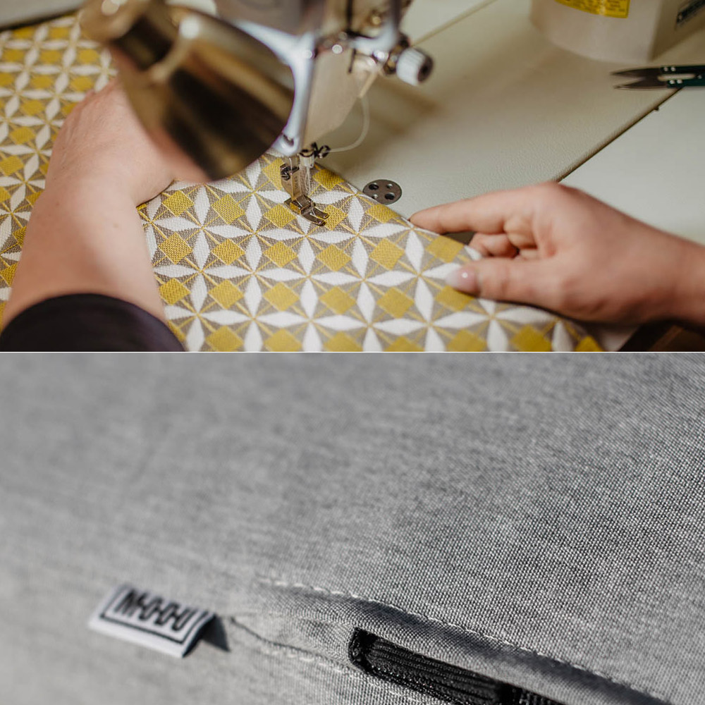 Szycie oraz efekt tkanin mebli ogrodowych
