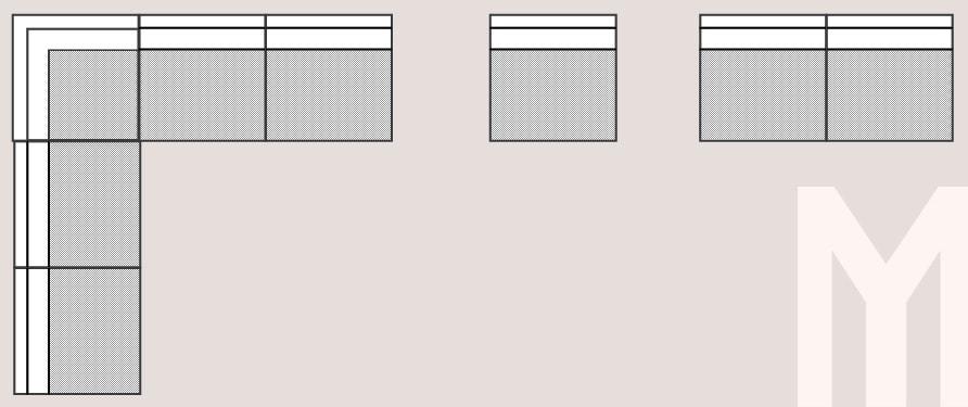 meble tarasowe mauro przykładowy układ